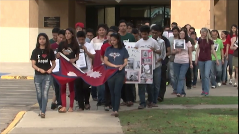 Nepalese students take action