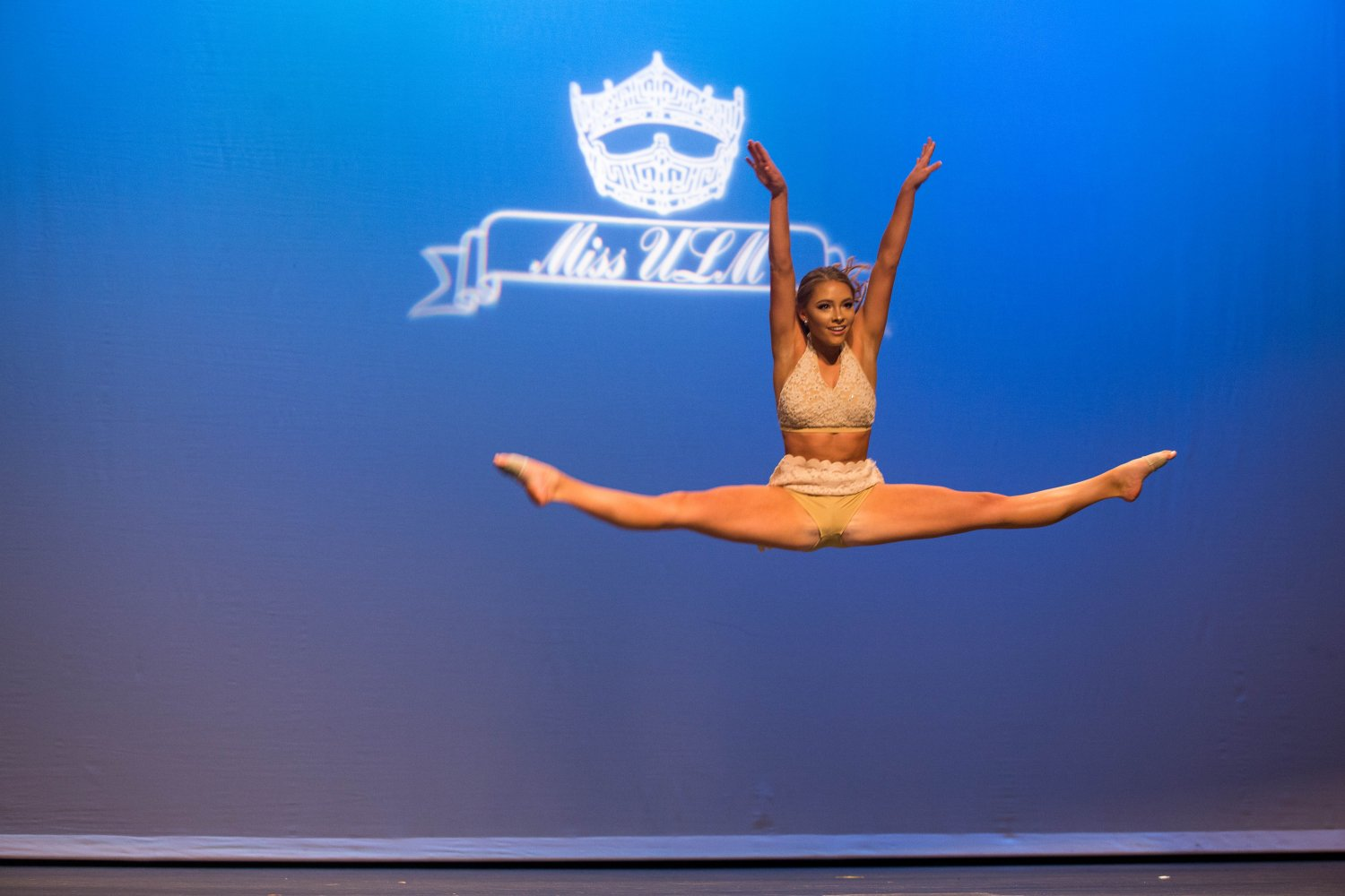 Hagen Campbell performs her routine at Miss ULM 2018.