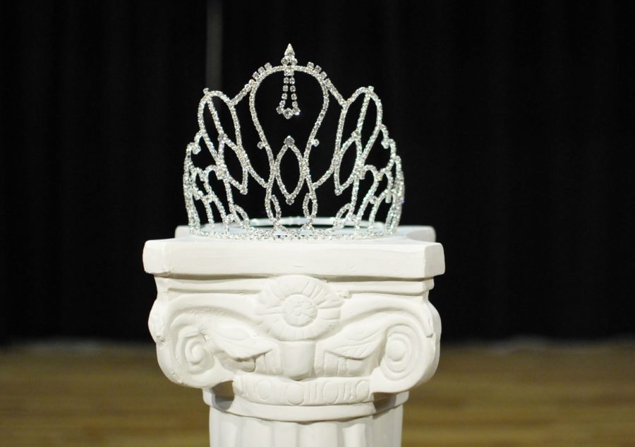 The crown for Miss Black and Gold is displayed proudly during the pageant