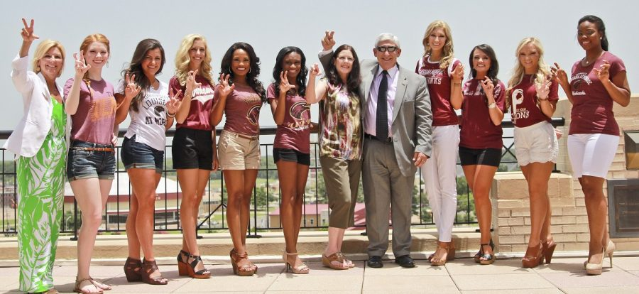 Miss Louisiana contestants attend a luncheon hosted by University of Louisiana at Monroe on Monday June 22, 2015.