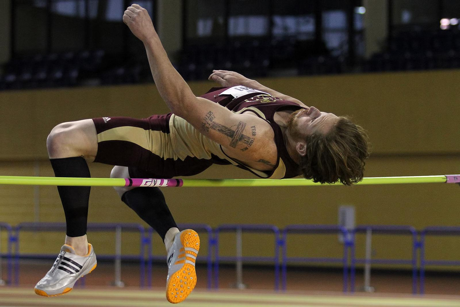 February 22, 2016:  Day one of the Sunbelt 2016 Indoor Track & Field Championship