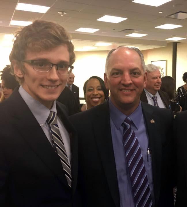 Senior+Adam+Nettles+pictured+with+Louisiana+Governor+John+Bel-Edwards
