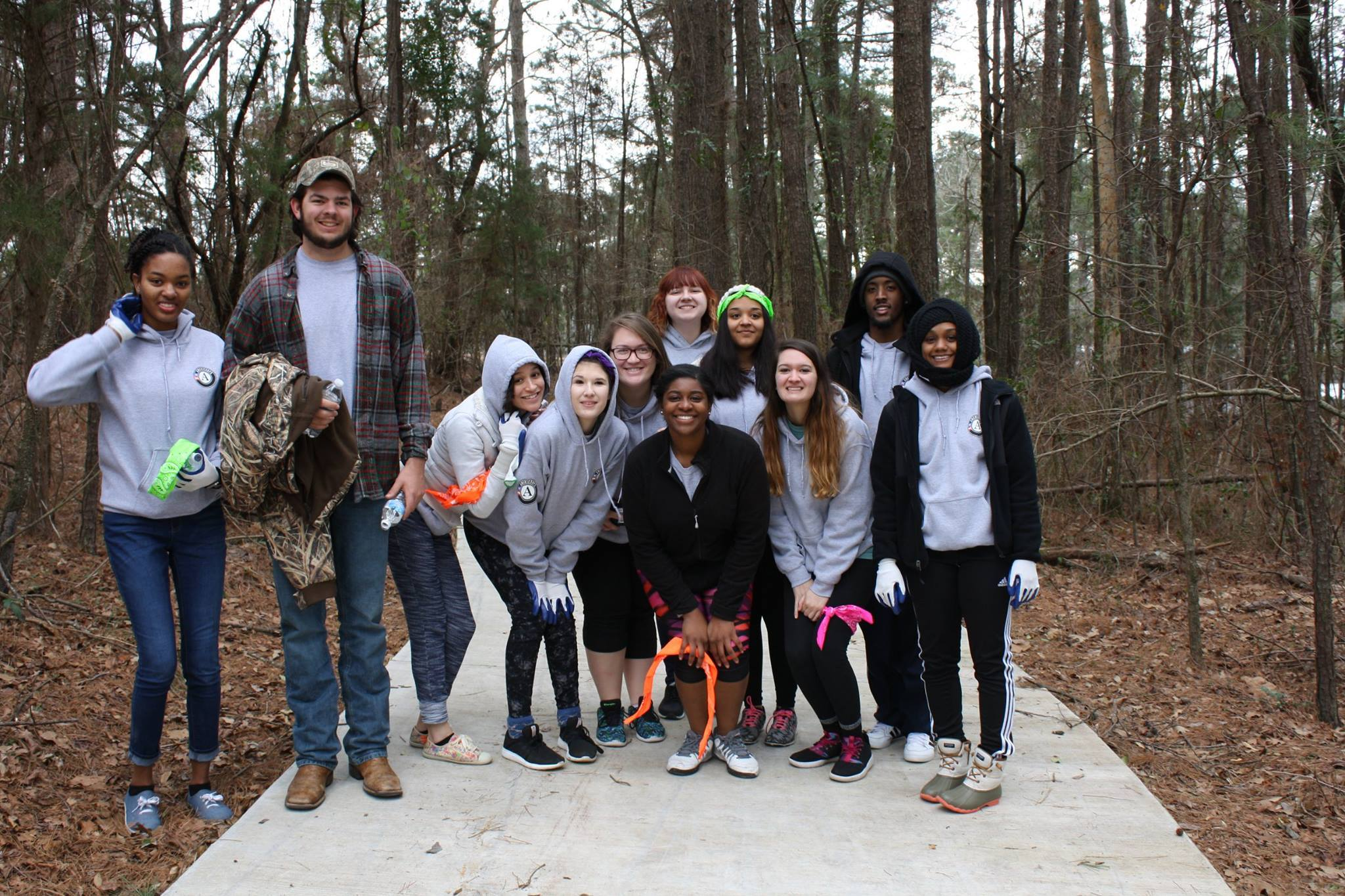 AmeriCorps workers have a retreat at MedCamps in Choudrant, Louisiana