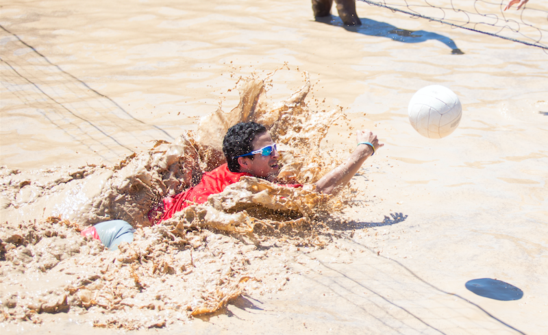 Students splashed in Oozeball to wrap up Spring Fever week.