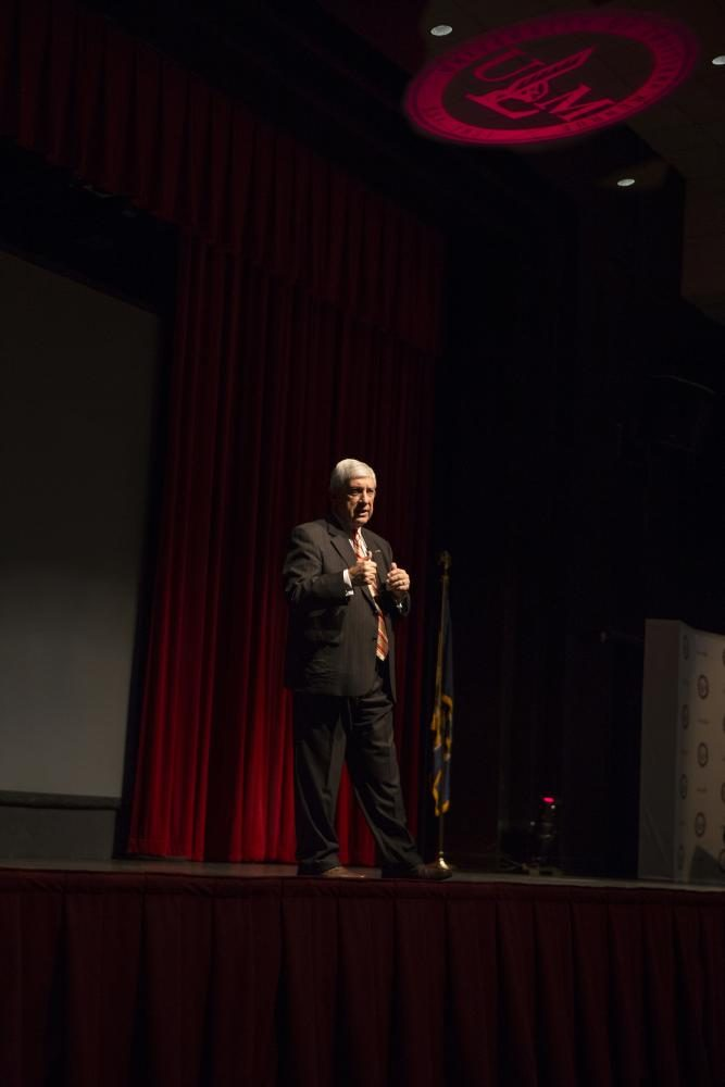 ULM President Nick J. Bruno gives his 7th State of the University address.