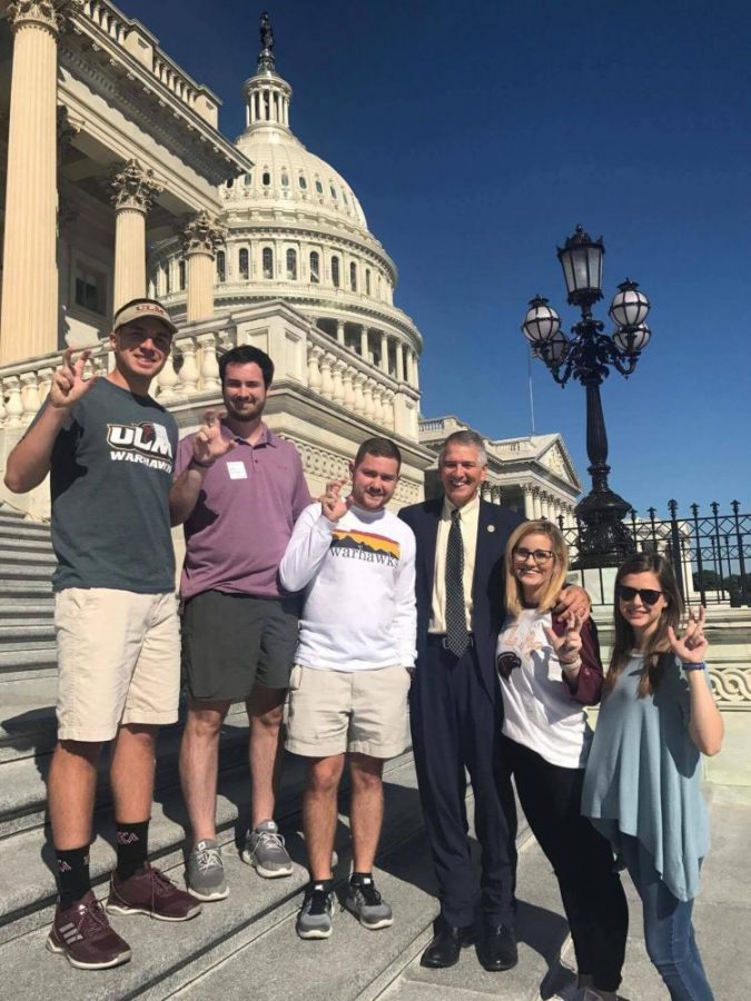 TALONS+OUT+IN+D.C.%3A+SGA+officers+posing+with+their+talons+out+in+a+photo+with+Representative+Ralph+Abraham.+