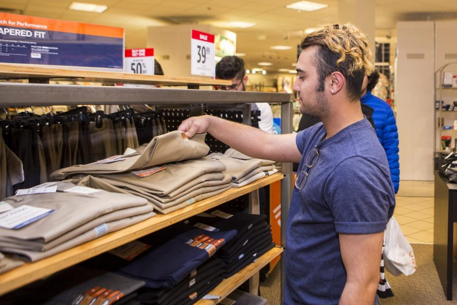 SALE: Students were given an extra discount to kick off career week.