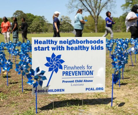 Pinwheel garden planted for child abuse prevention