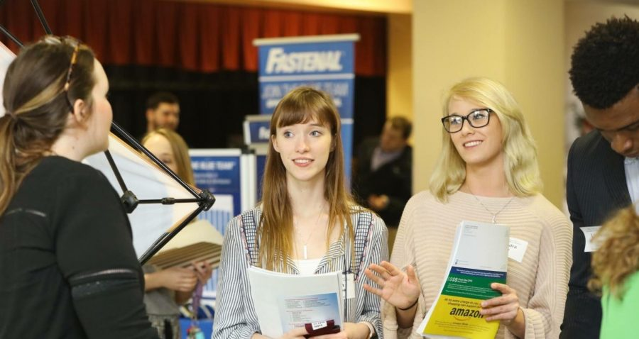 Job+fair+brings+employment++to+students