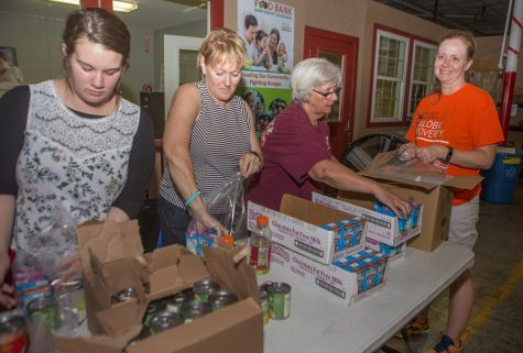 Rock music brings community together at local food bank