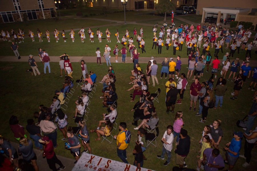 Conference play kicks off with Pep Rally in quad