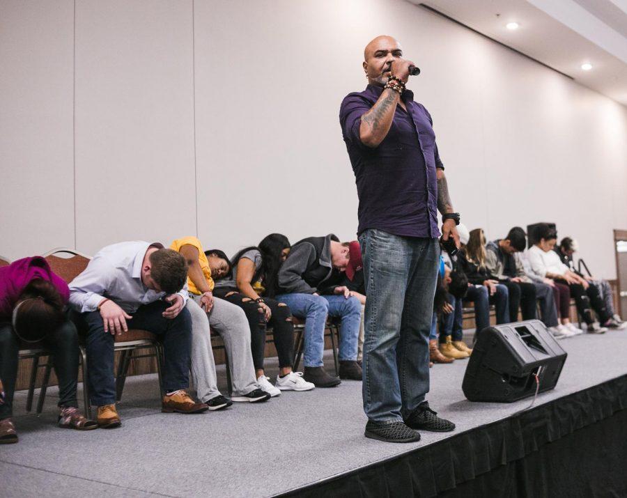 Students fall under hypnotic spell
