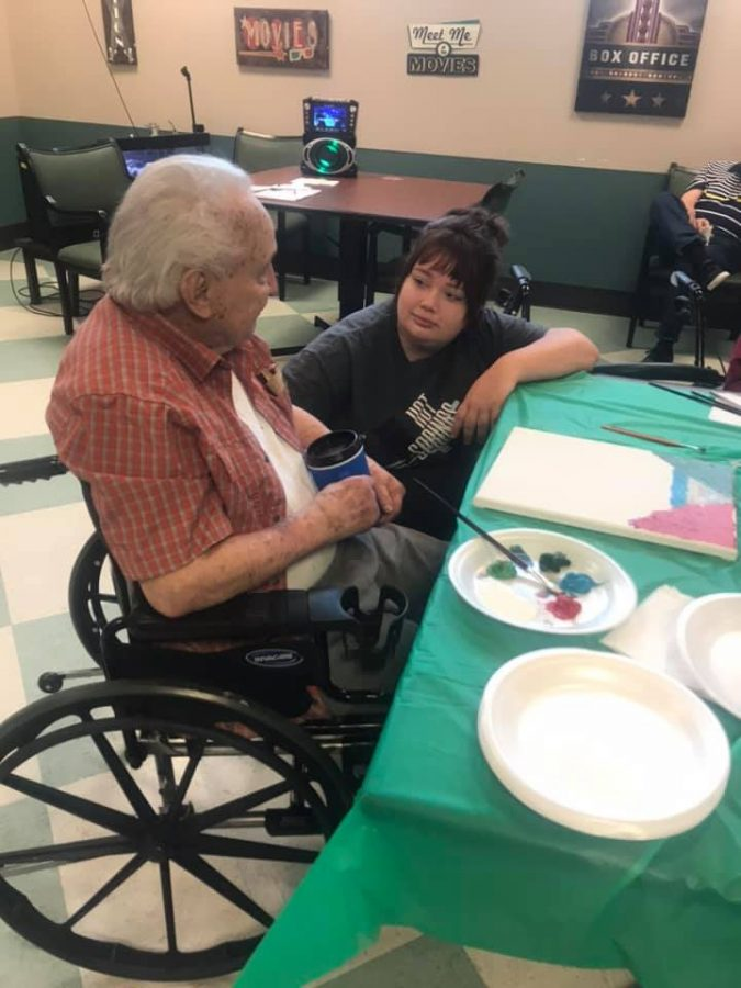 Art students make impact in veterans' life with painting