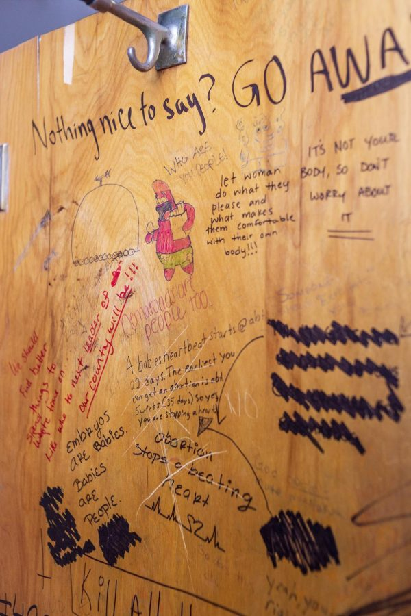 Art in bathroom stalls inspires students