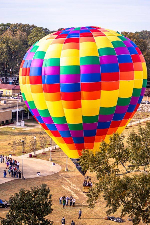 Warhawks take flight in hot air balloon