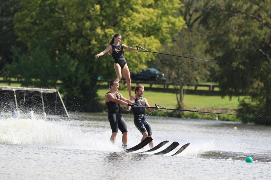 Water ski team displays talent at bayou show
