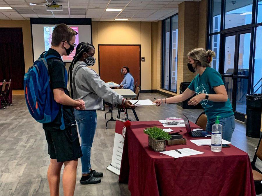 Students find campus employment at job fair
