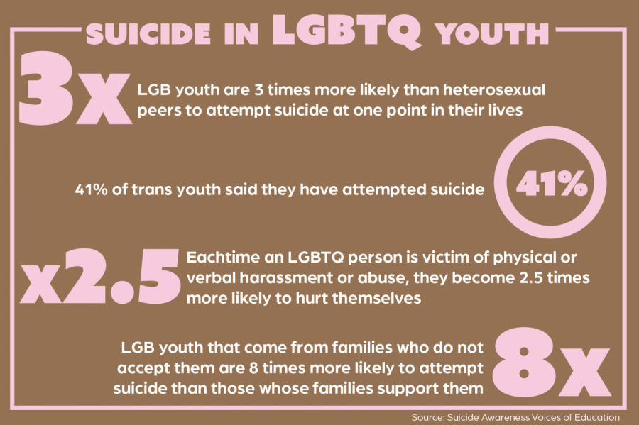 LGBTQ youth at increase risk of suicide